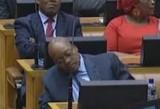 S'Africa: Jacob Zuma falls asleep during budget speech