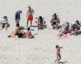 Condemnation trails New Jersey governor's appearance at beach