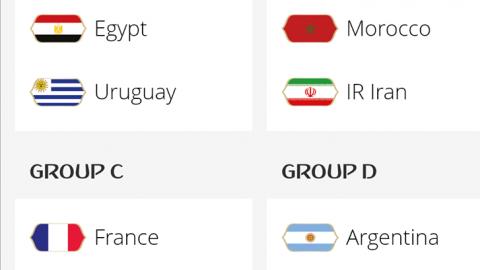 World Cup: Nigeria draws Argentina, Croatia, Iceland at Russia 2018